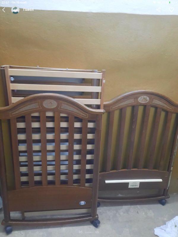 Продам детскую кроватку pali charlotte noce classico classic waln