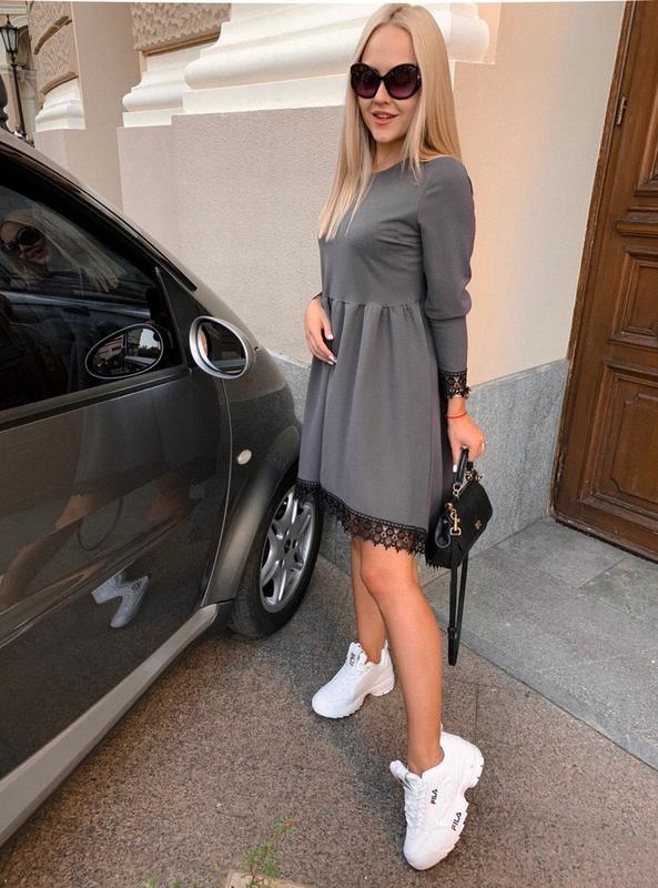 Женское стильное платье с красивым низом - Фото 6