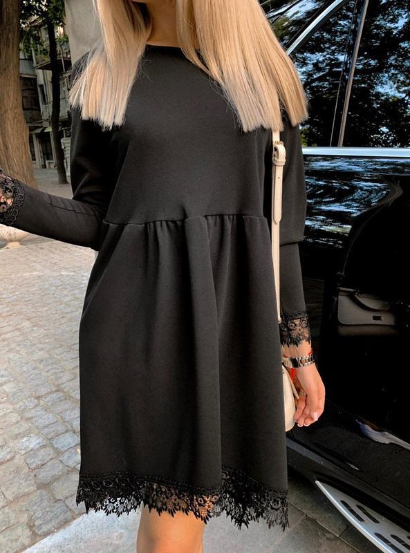 Женское стильное платье с красивым низом - Фото 4