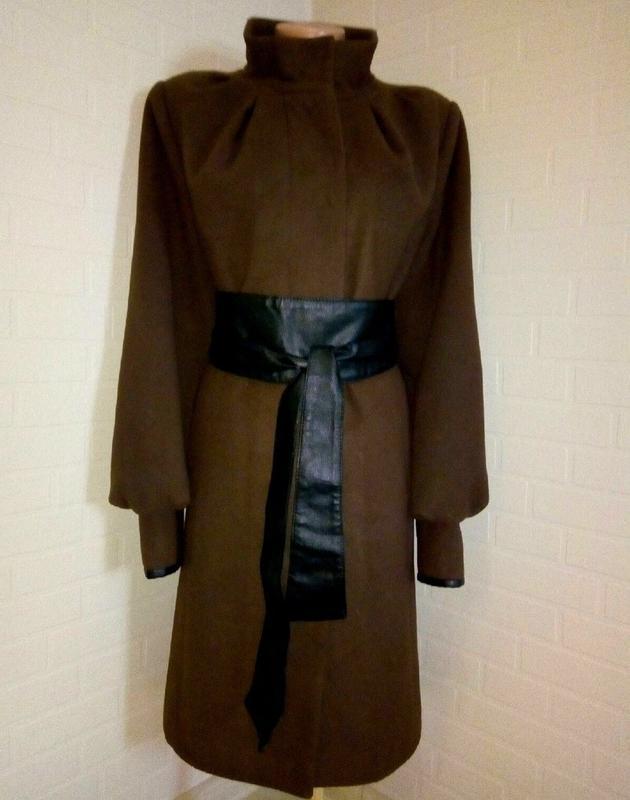 Демисезонное кашемировое, шерстяное пальто. - Фото 2