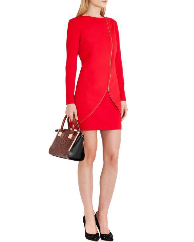 Ted baker платье красного цвета m-l размер