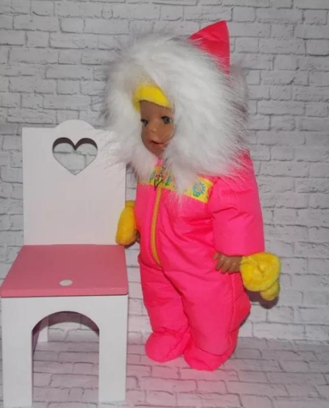 Одежда для кукол-пупсов Беби Борн, Baby Born, зимний комбинезон - Фото 4