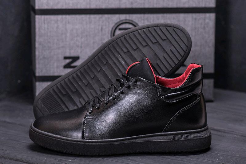 Мужские кожаные зимние ботинки, кеды Zangak, ботинки - Фото 4