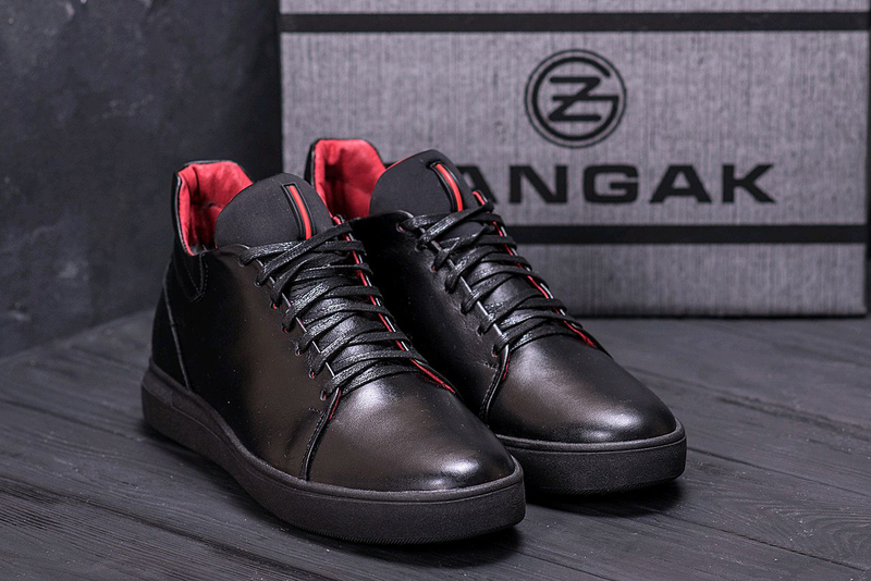 Мужские кожаные зимние ботинки, кеды Zangak, ботинки