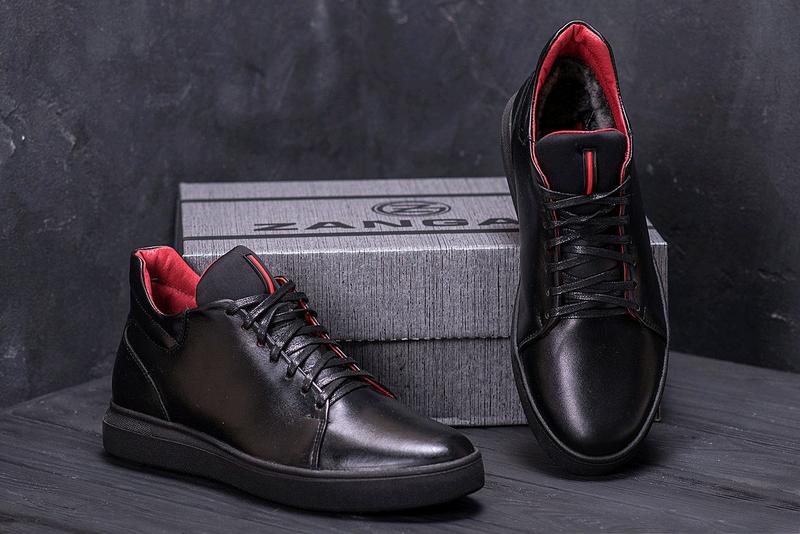Мужские кожаные зимние ботинки, кеды Zangak, ботинки - Фото 3