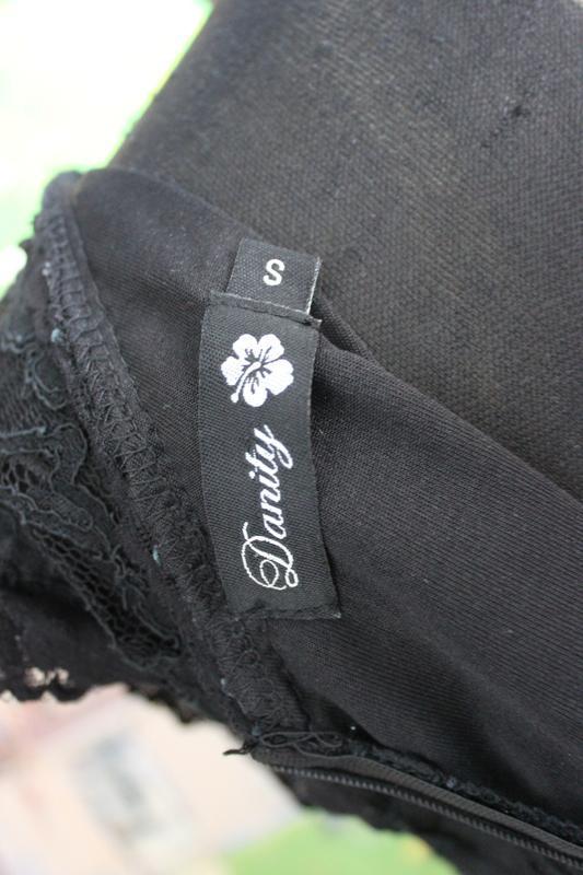 Платтье кружевное гипюр кружево ажурное черное s короткое ажур - Фото 5