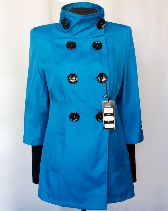 Суперцена. стильный плащ куртка, двойной рукав. новый, р. 42-44