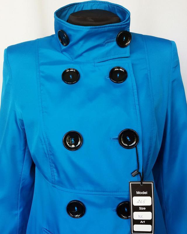 Суперцена. стильный плащ куртка, двойной рукав. новый, р. 42-44 - Фото 2
