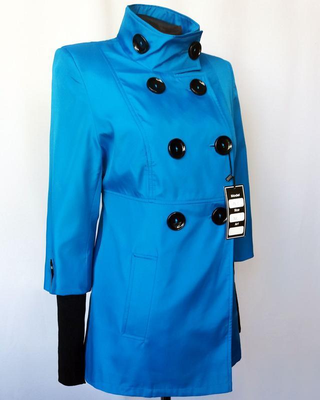 Суперцена. стильный плащ куртка, двойной рукав. новый, р. 42-44 - Фото 3