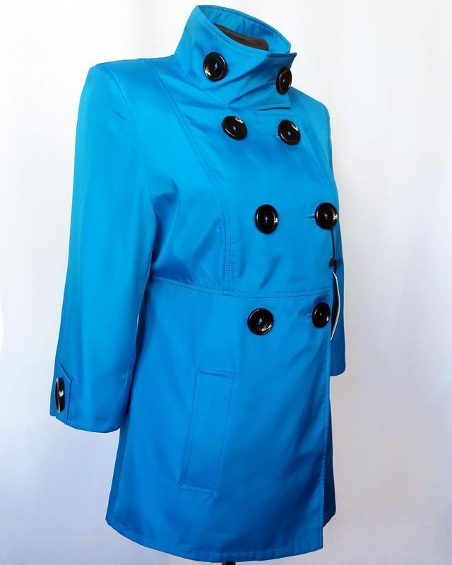 Суперцена. стильный плащ куртка, двойной рукав. новый, р. 42-44 - Фото 4