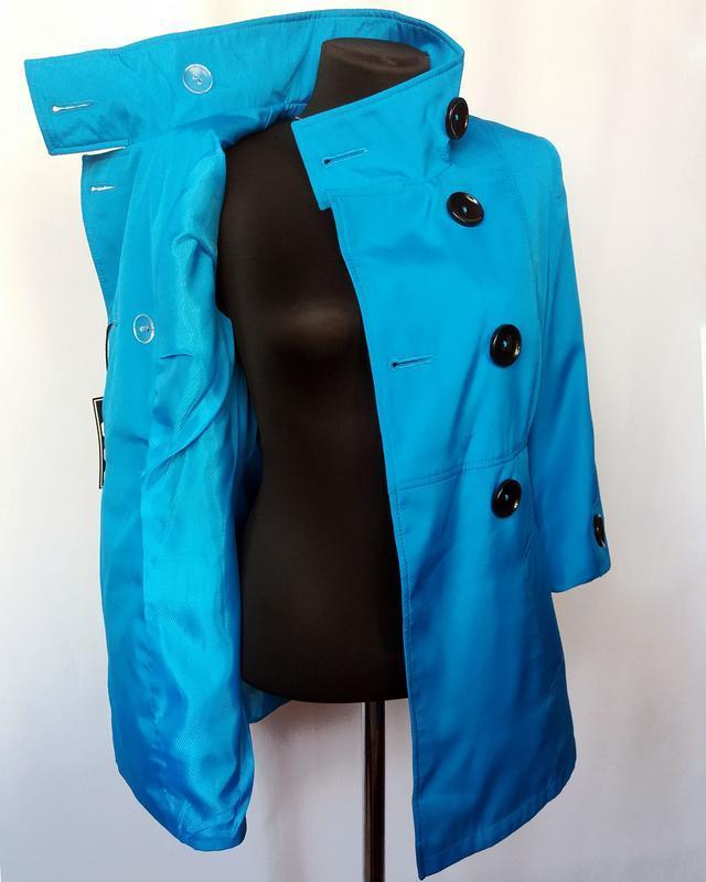 Суперцена. стильный плащ куртка, двойной рукав. новый, р. 42-44 - Фото 5