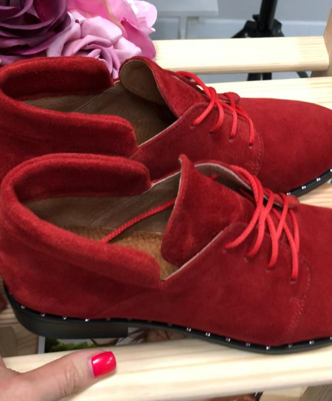 Женские замшевые туфли - Фото 4