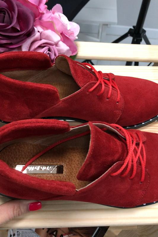 Женские замшевые туфли - Фото 5