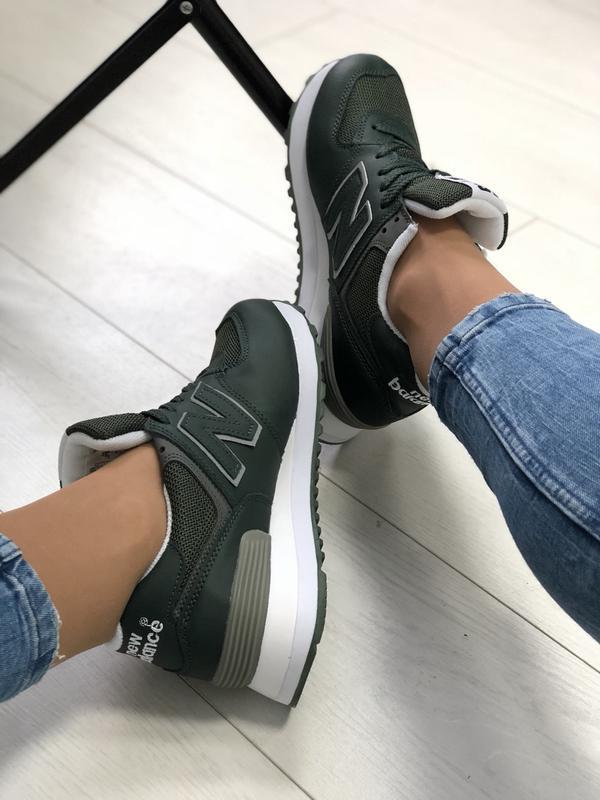 Женские кроссовки, из натуральной кожи + сетка - Фото 4
