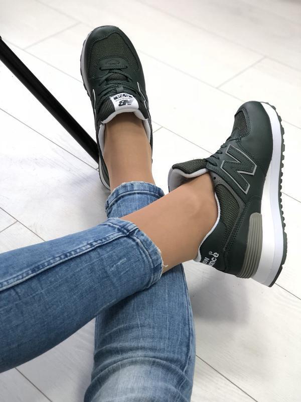 Женские кроссовки, из натуральной кожи + сетка - Фото 5