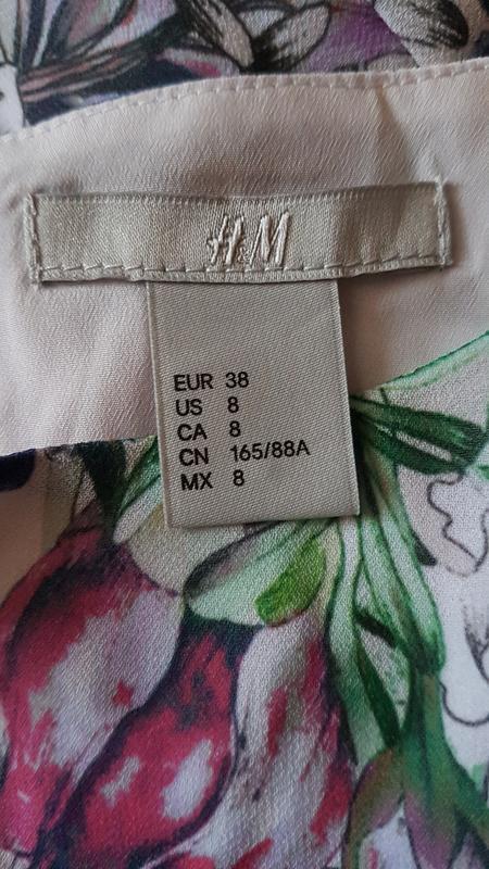 Красивое длинное платье h&m в цветочный принт. - Фото 2