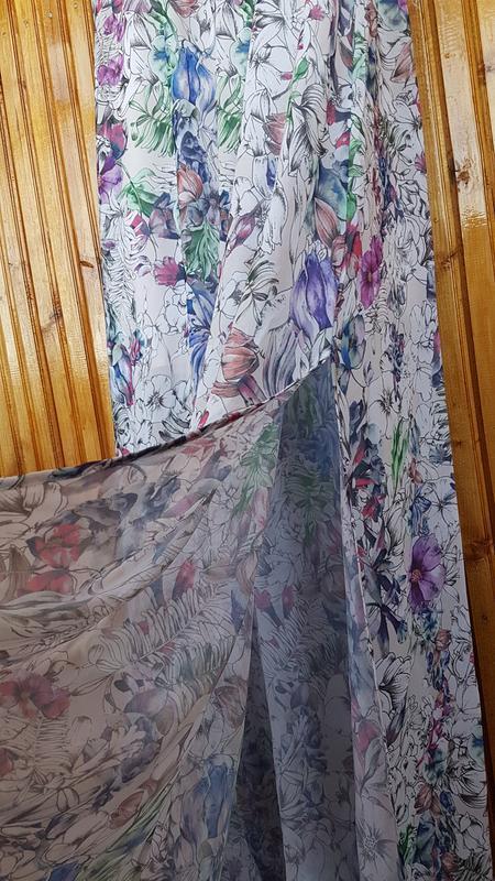 Красивое длинное платье h&m в цветочный принт. - Фото 3