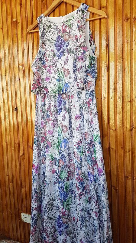 Красивое длинное платье h&m в цветочный принт. - Фото 6