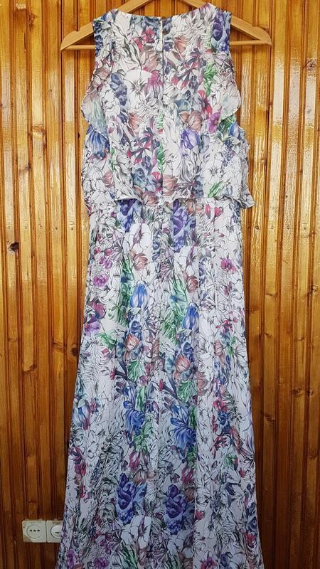 Красивое длинное платье h&m в цветочный принт. - Фото 7