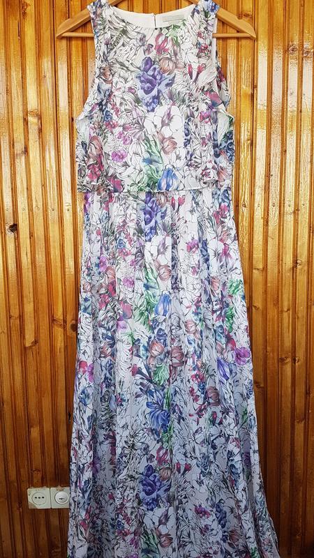 Красивое длинное платье h&m в цветочный принт. - Фото 8