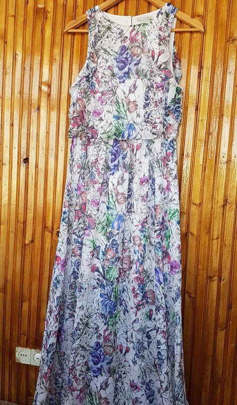 Красивое длинное платье h&m в цветочный принт. - Фото 9