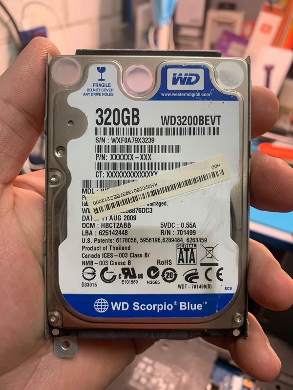 Жёсткий диск для ноутбука WD 320gb Sata 2,5
