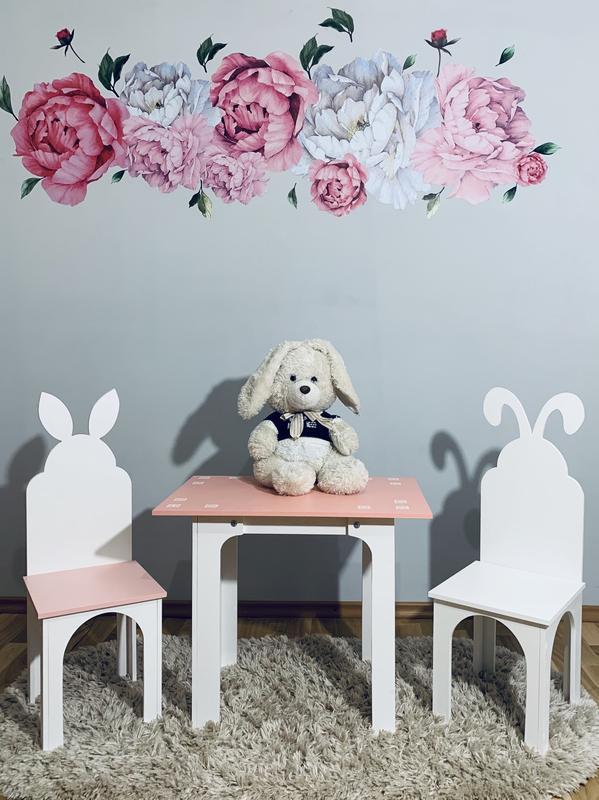 Столик и стульчик Зайка Стол и стул (стулик) парта - Фото 5
