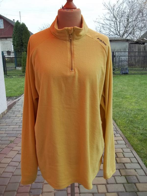 ( 54 р) флисовый свитер кофта джемпер пуловер гольф мужской ор...