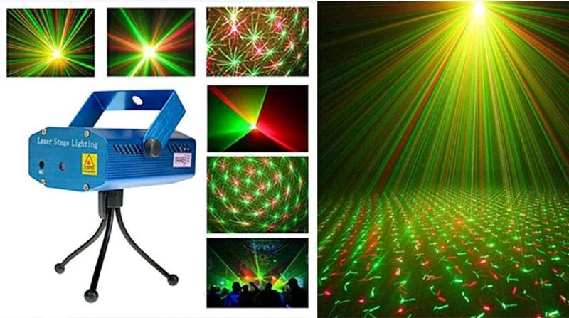 Мини лазерный проектор,  новогодний лазер
