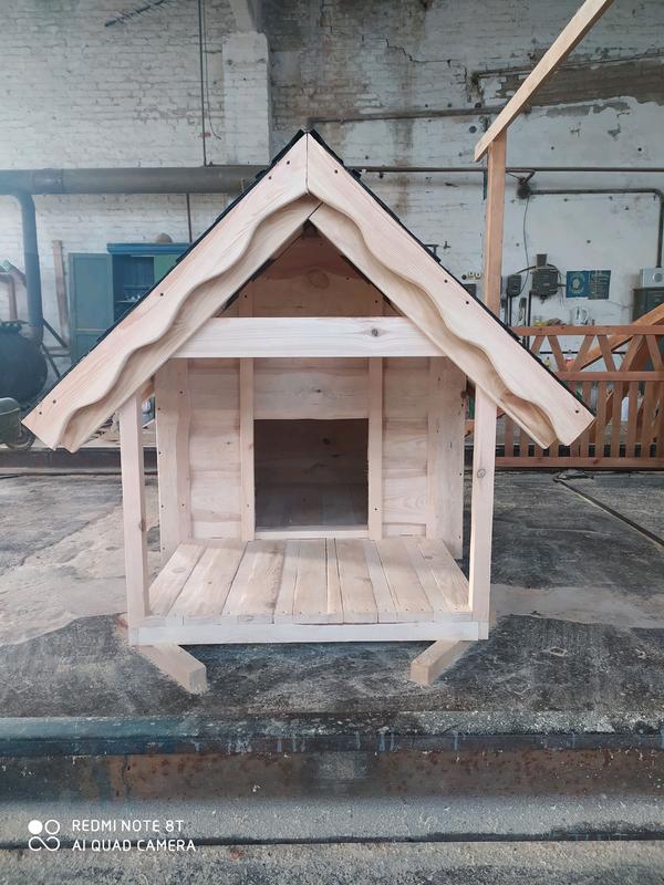 Собачья будка из натурального дерева сосны - Фото 3