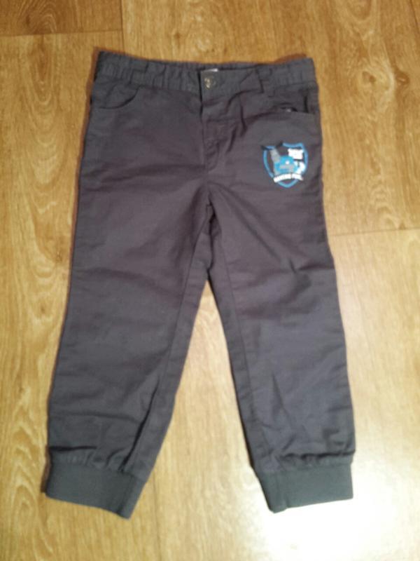 Коттоновые штаны, джинсы, джогеры pepco на 2-3 года. рост- 92 см.