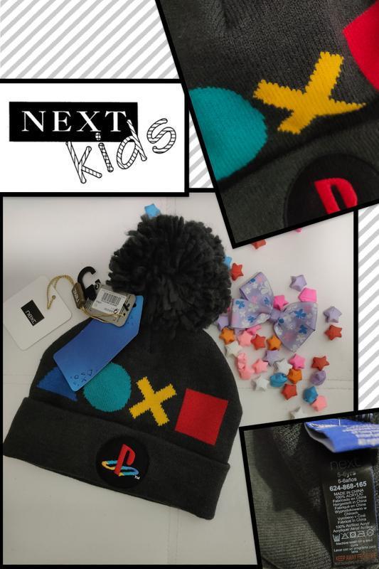 Классная демисезонная шапка для мальчика next на 5-6 лет