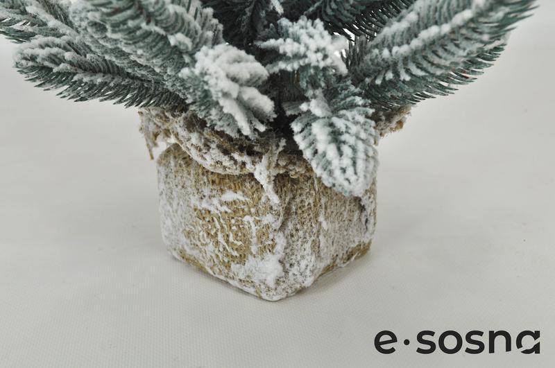 Елка литая Арктика 35 см заснеженная настольная - Фото 3