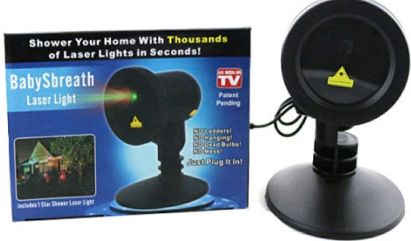 Лазерный проектор новогодний праздник