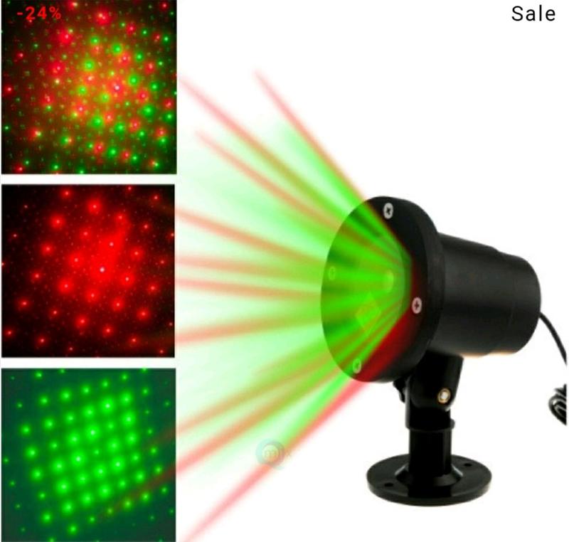 Лазерный проектор новогодний праздник - Фото 2