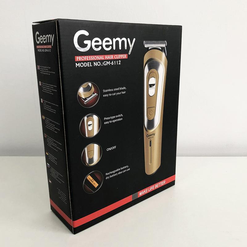 Беспроводная машинка для стрижки волос GEMEI GM-6112 - Фото 2