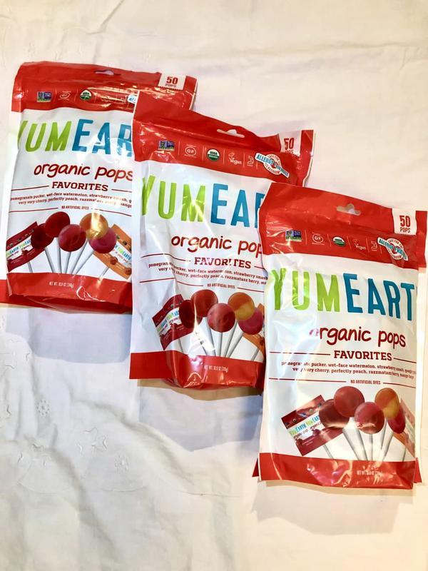 Органічні льодяники Yum Earth organic pops 310 г