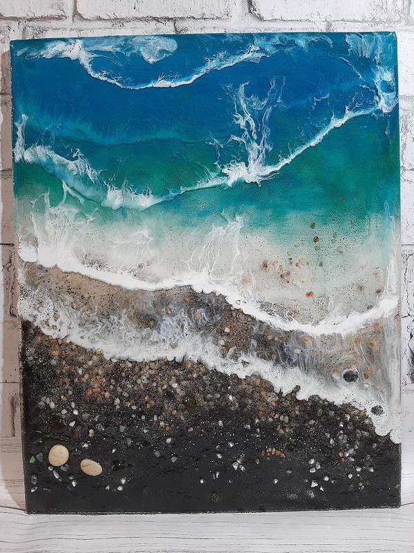 Море купить морская картина волны берег эпоксидная смола resin ar