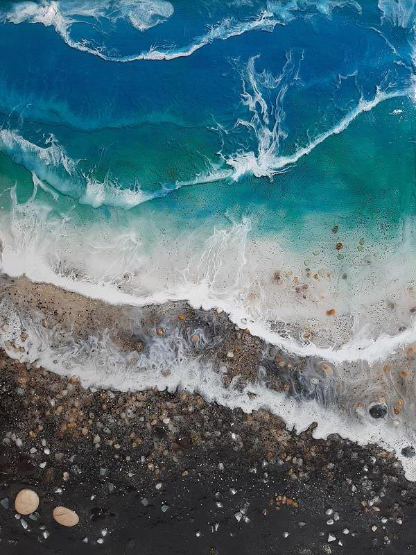 Море купить морская картина волны берег эпоксидная смола resin ar - Фото 2