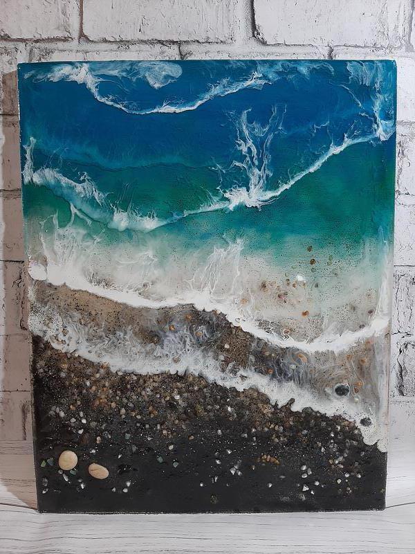 Море купить морская картина волны берег эпоксидная смола resin ar - Фото 4
