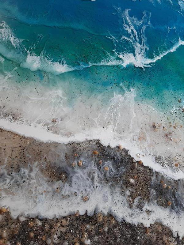 Море купить морская картина волны берег эпоксидная смола resin ar - Фото 5