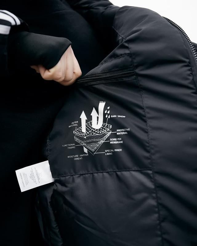 Зимняя мужская куртка парка adidas черная - Фото 8