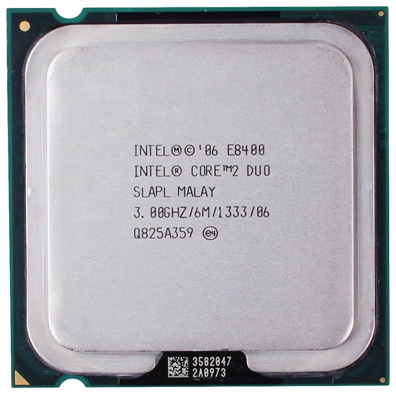 Процессор Intel Core 2 Duo E8400 3.0GHz/6MB/1333MHz LGA775