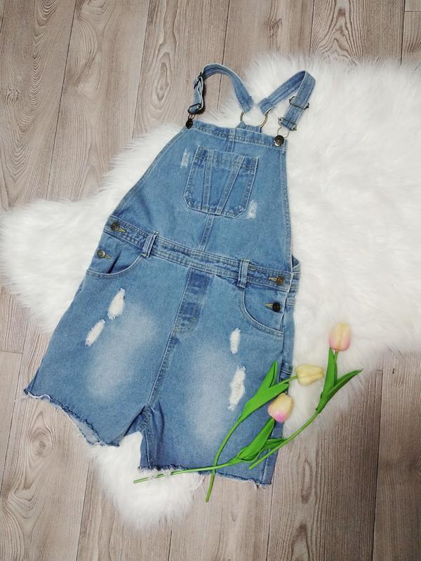 Джинсовый комбинезон с шортами на девочку для девочки девочке ...