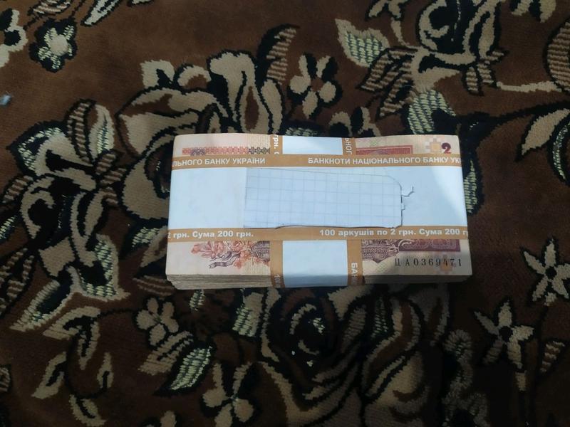 Корешок 100 шт (пачка, блок) 2 гривны 1995-2001 года