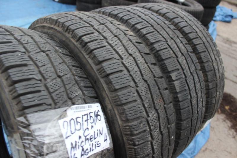 R16C=205-75-R16С Michelin Agilis грузовая зимняя резина шины G... - Фото 8
