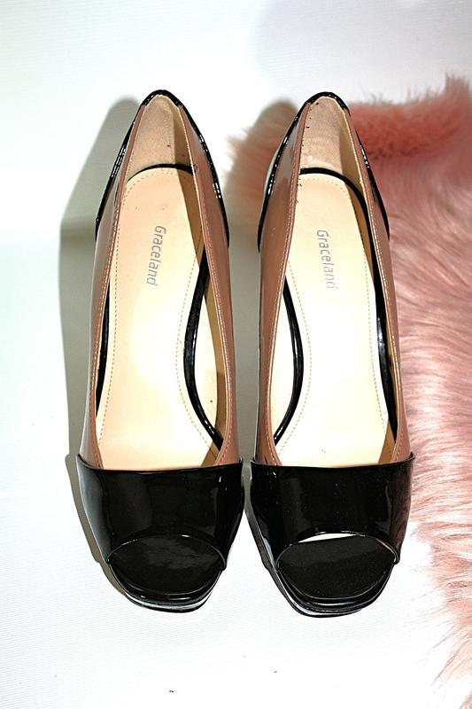 Босоножки новые сток квадратный носок шпильки высокий каблук g... - Фото 6