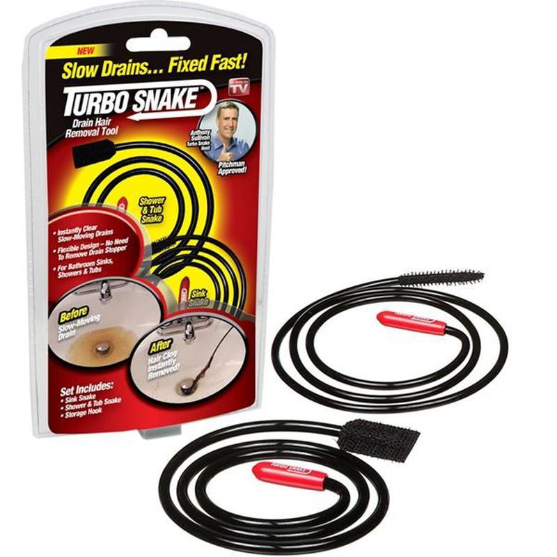 Прибор для чистки труб и канализации Turbo Snake - Фото 5