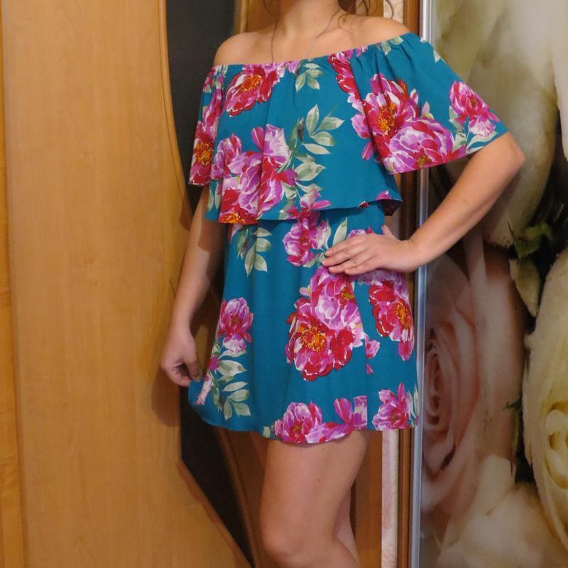 Платье сарафан туника c оголенными плечами  размер s