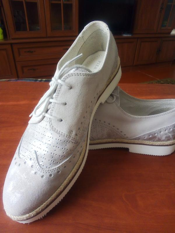 Супер туфли броги pier оne из натуральной кожи оригинал